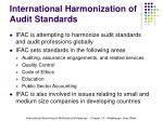 international harmonization of audit standards