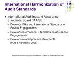 international harmonization of audit standards20