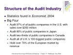 structure of the audit industry