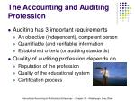 the accounting and auditing profession