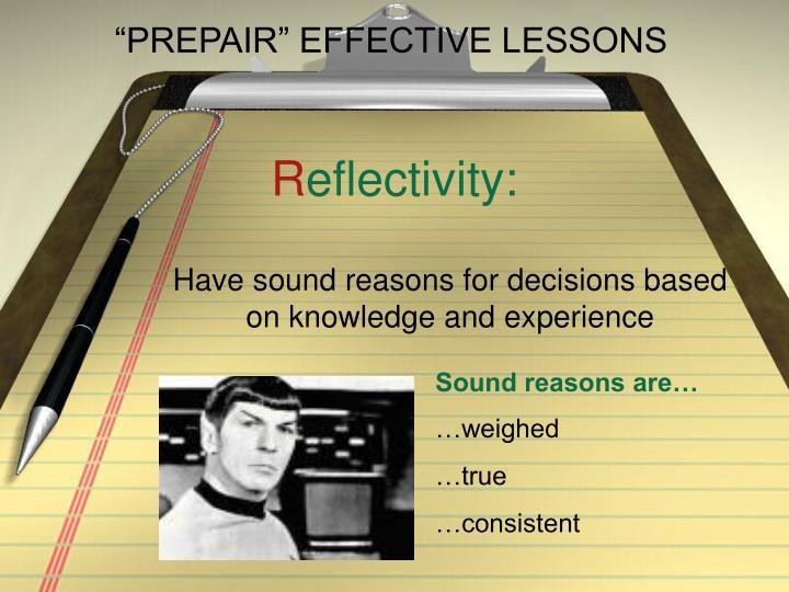 Prepair effective lessons3
