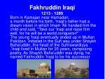 fakhruddin iraqi 1213 1289