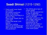 saadi shirazi 1215 1292