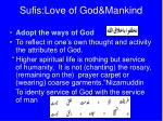 sufis love of god mankind5