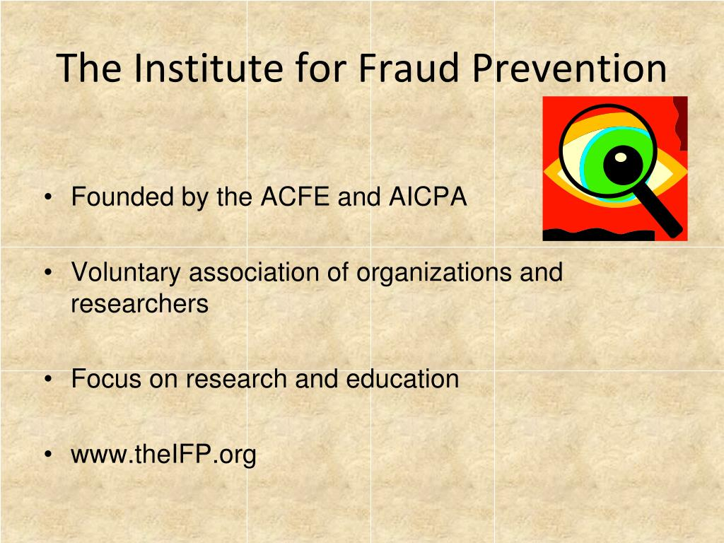 The Institute for Fraud Prevention