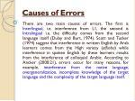 causes of errors