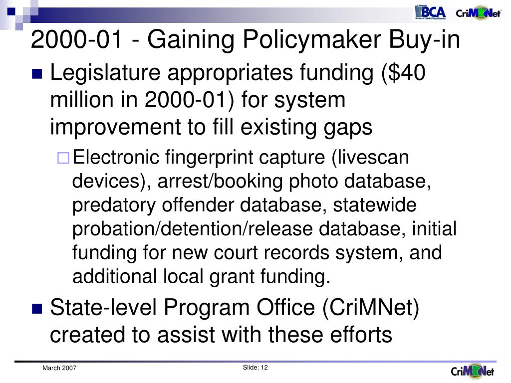 2000-01 - Gaining Policymaker Buy-in