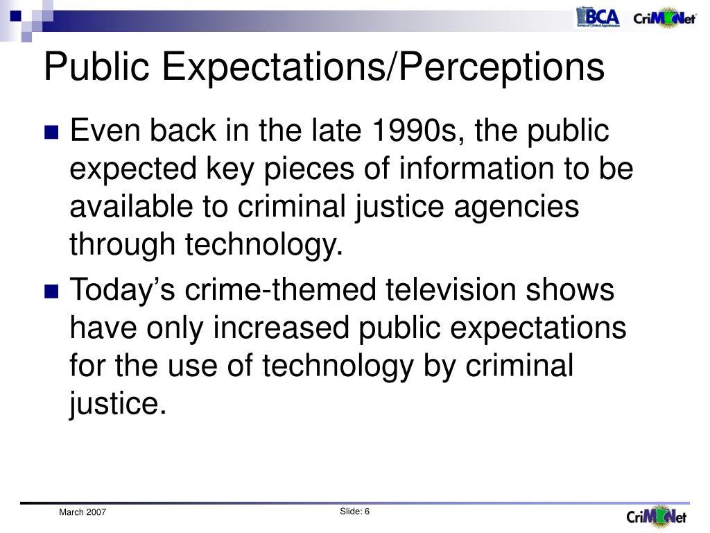 Public Expectations/Perceptions