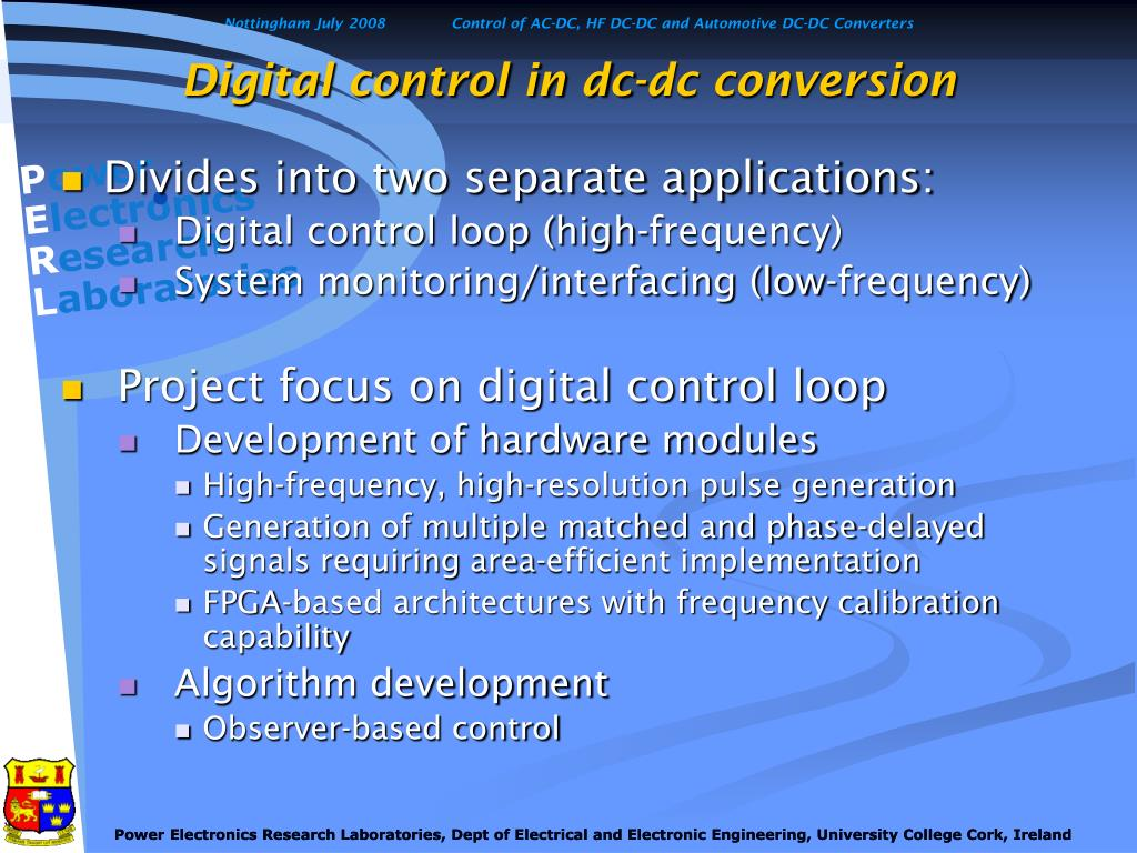 Digital control in dc-dc conversion