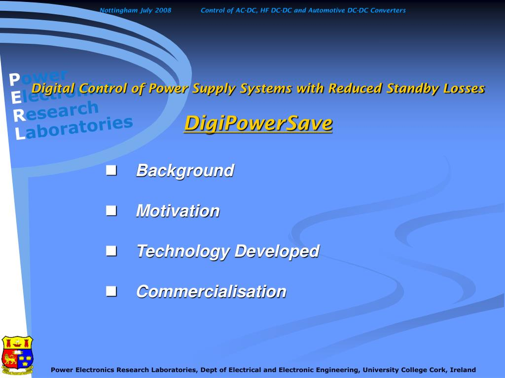 Digital Control of Power Supply Systems with Reduced Standby Losses