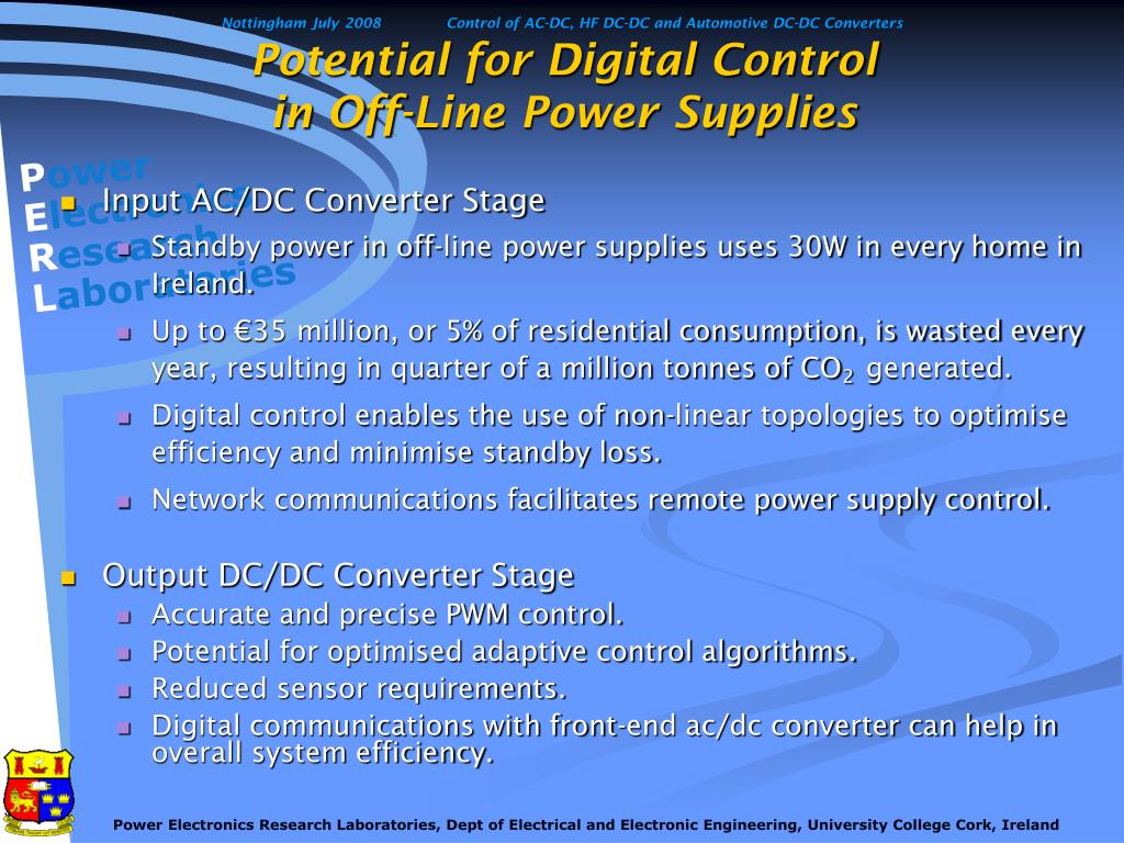 Potential for Digital Control
