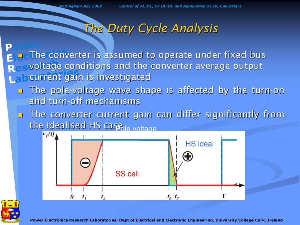 The Duty Cycle Analysis