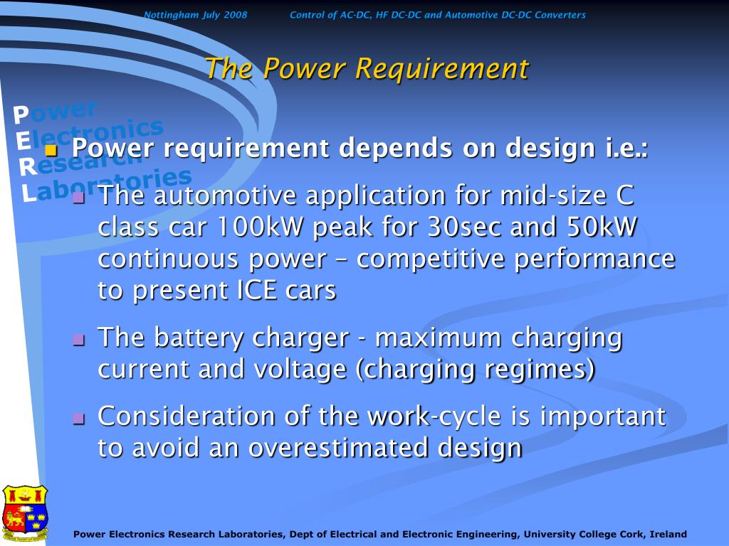 The Power Requirement