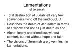 lamentations of jeremiah