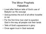 the minor prophets habakkuk