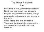 the minor prophets joel