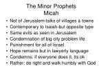 the minor prophets micah