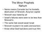 the minor prophets nahum