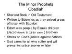 the minor prophets obadiah
