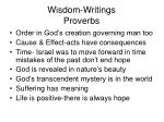 wisdom writings proverbs