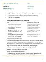 sosiale ferdigheter dato trening 3 hovedtrener be om hjelp medtrener