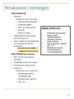strukturen i treningen1