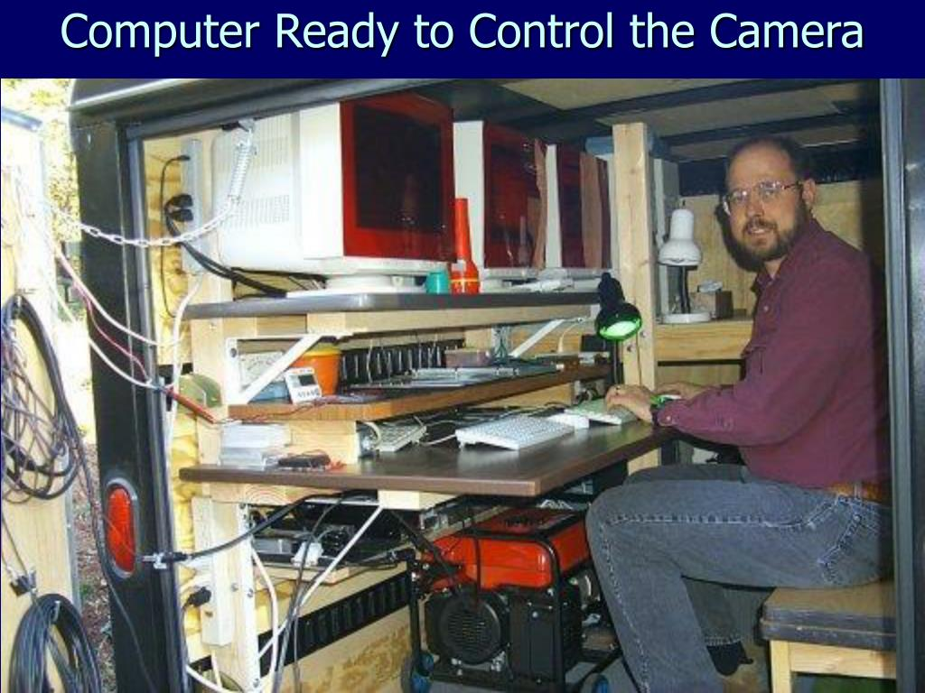 Computer Ready to Control the Camera