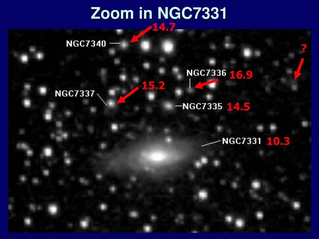 Zoom in NGC7331