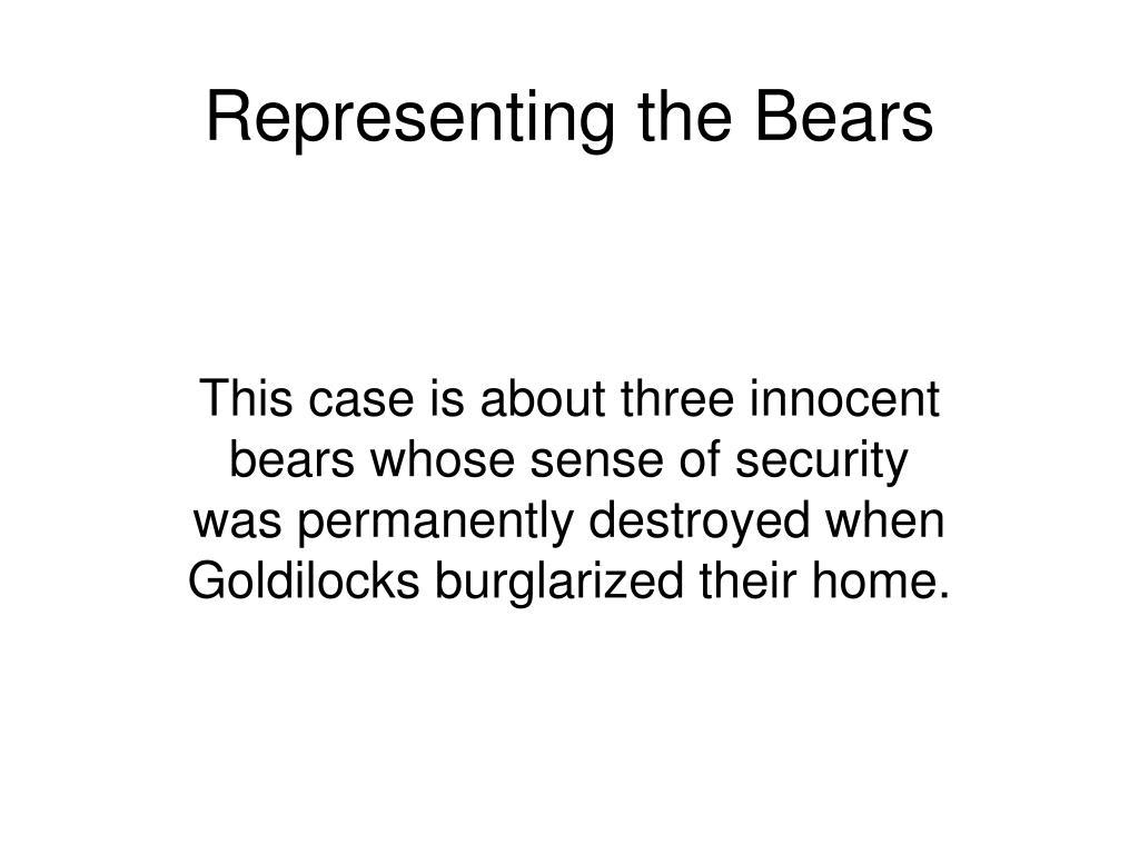 Representing the Bears