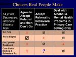 choices real people make