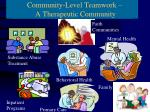 community level teamwork a real system of care
