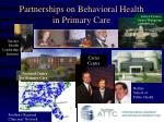 partnerships on behavioral health in primary care