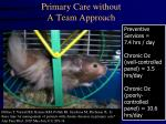 primary care without a team approach