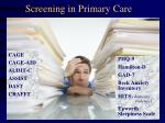 screening in primary care