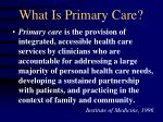 what is primary care1