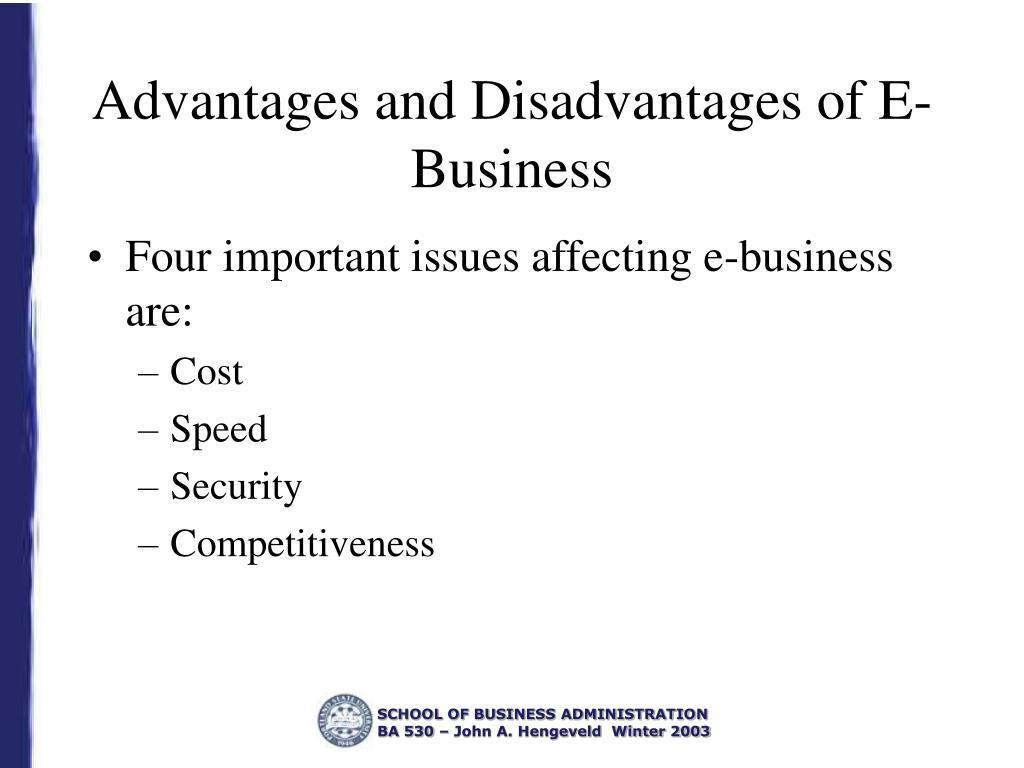 Advantages and Disadvantages of E-Business