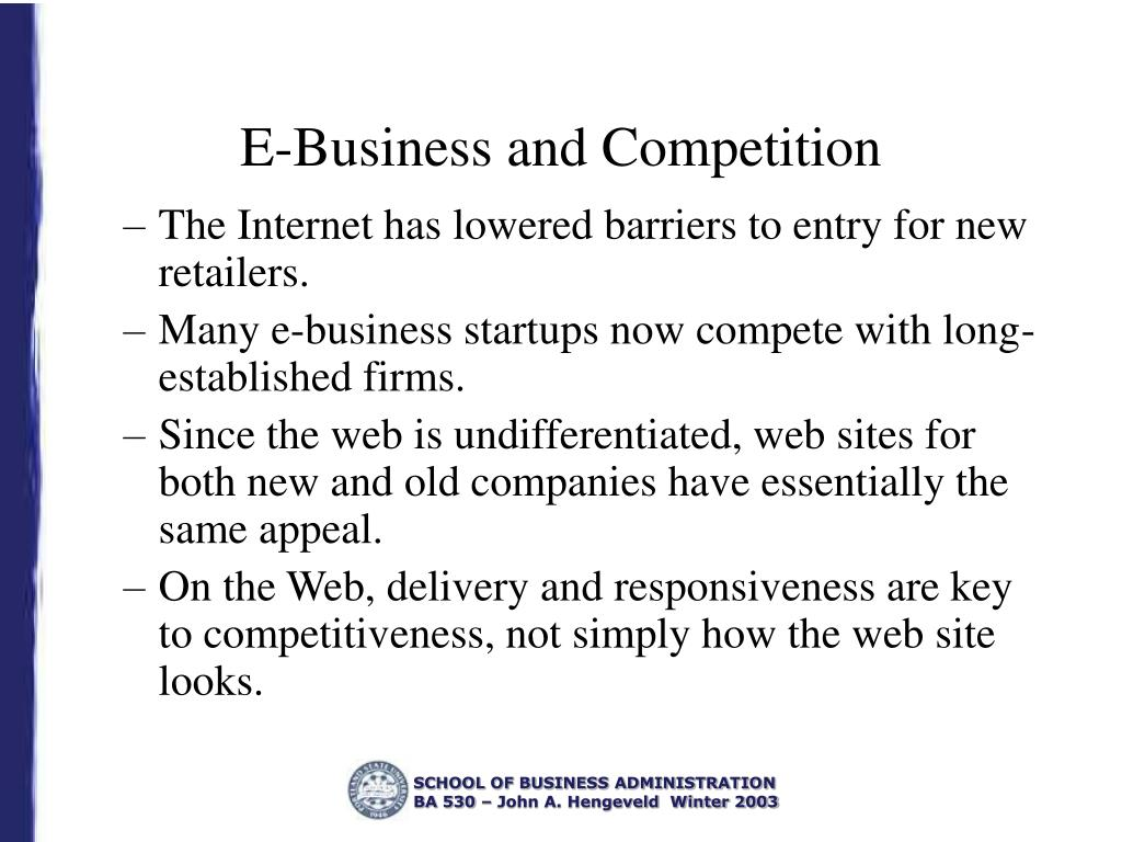 E-Business and Competition