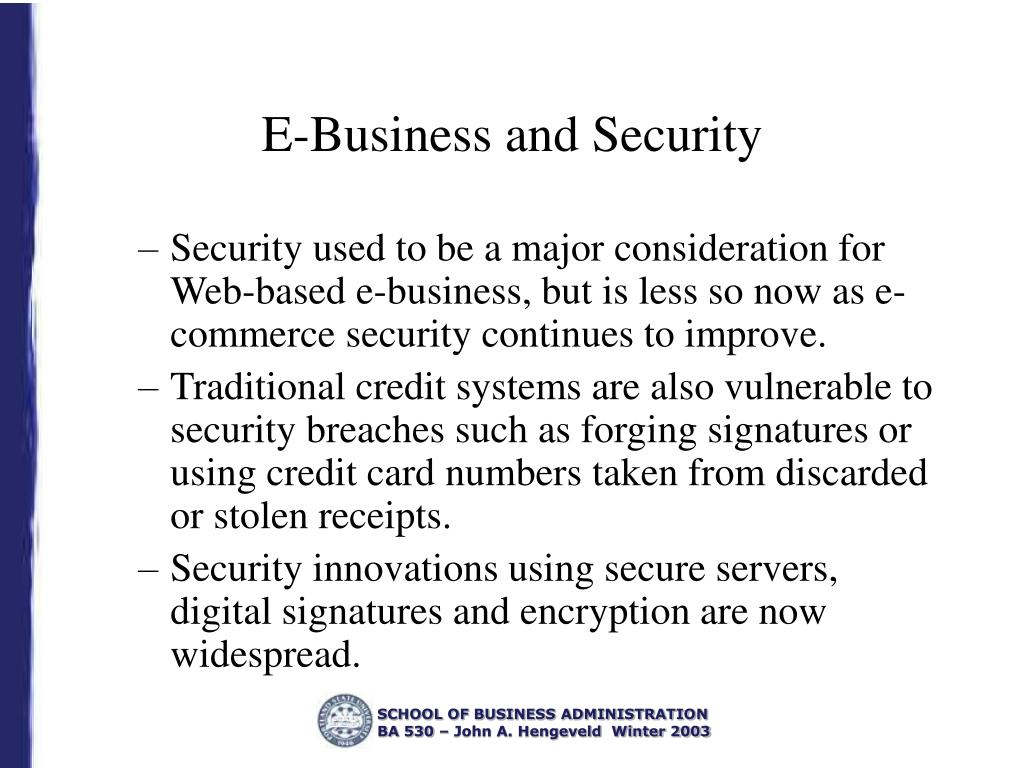 E-Business and Security
