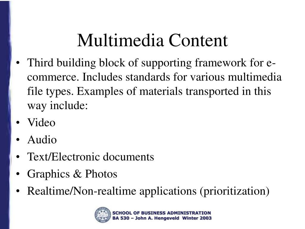 Multimedia Content