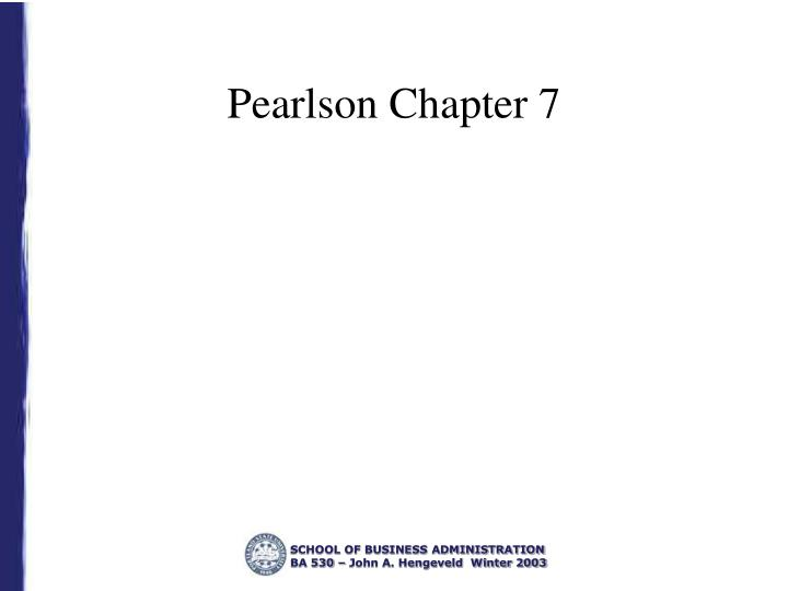 Pearlson chapter 7