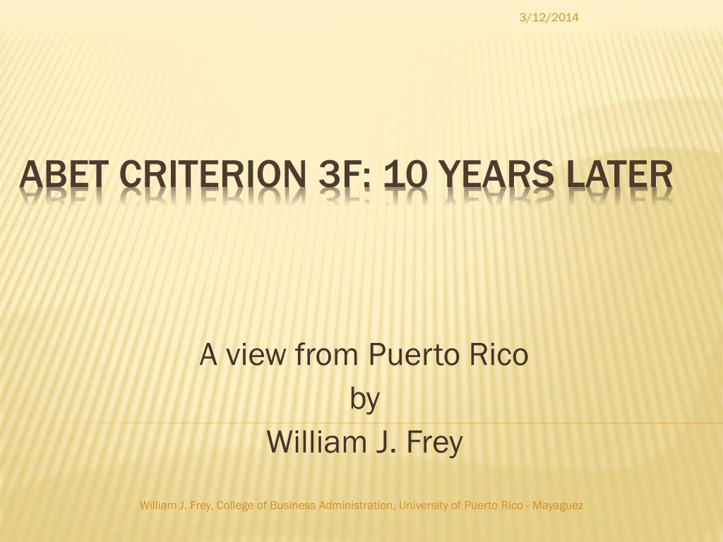 a view from puerto rico by william j frey l.