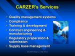 carzer s services