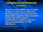 compliance deficiencies company c30