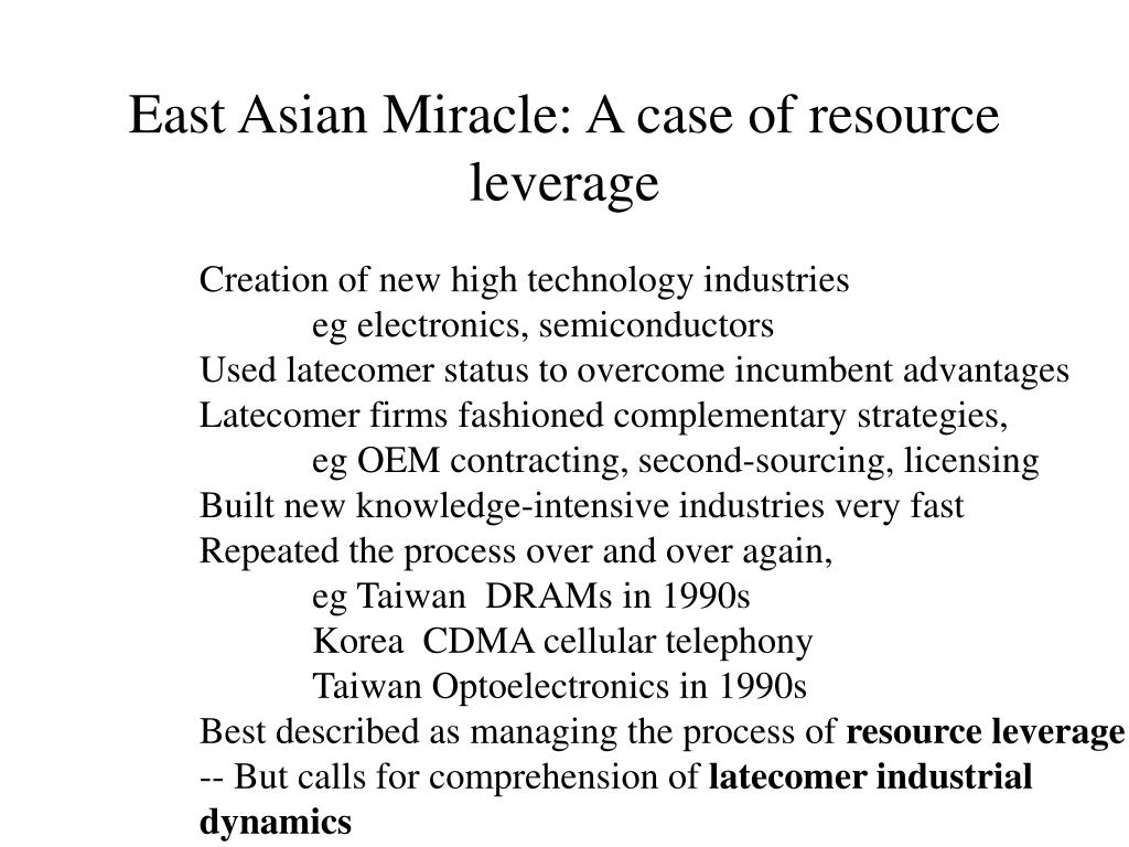 East Asian Miracle: A case of resource leverage
