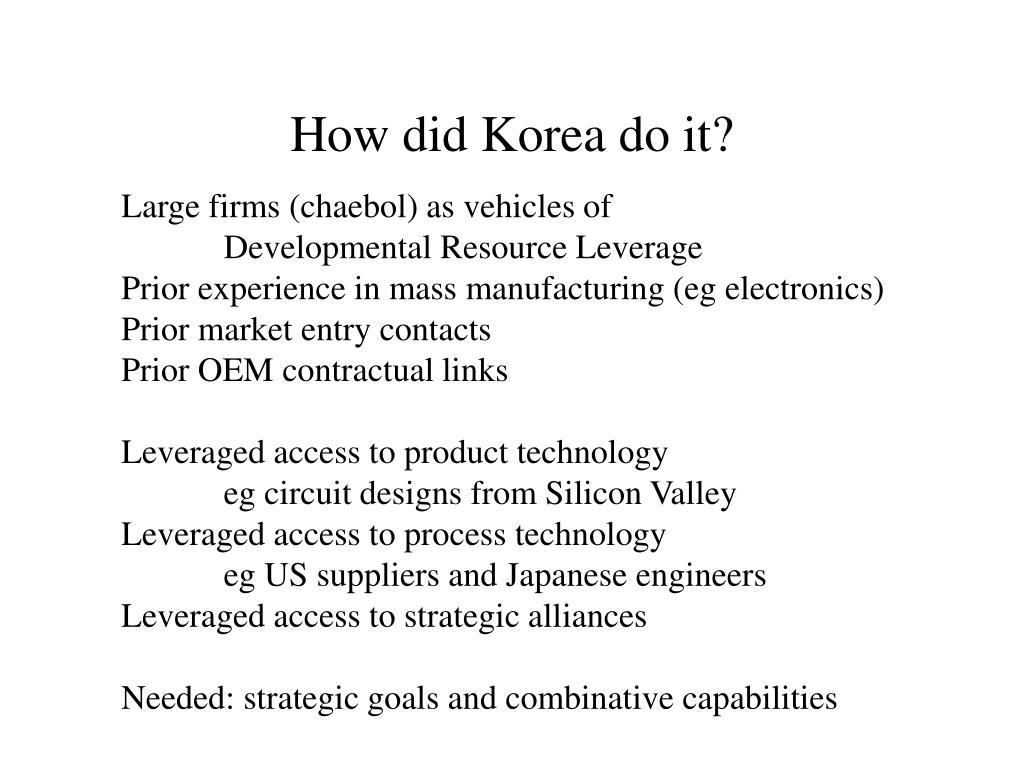 How did Korea do it?