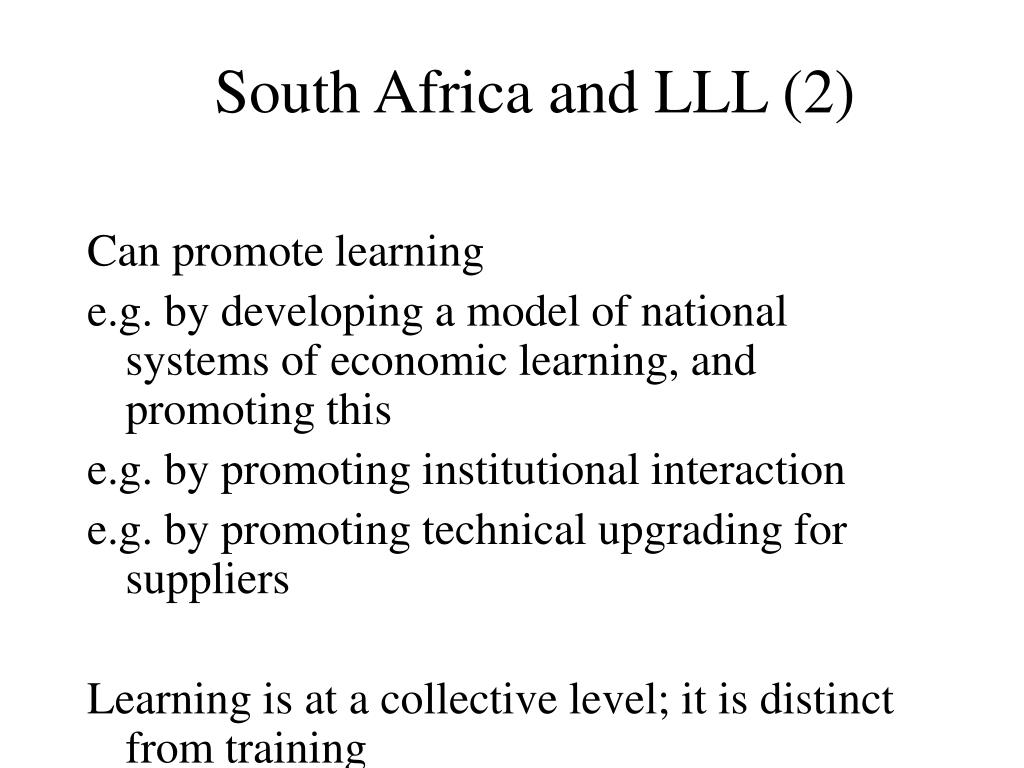 South Africa and LLL (2)