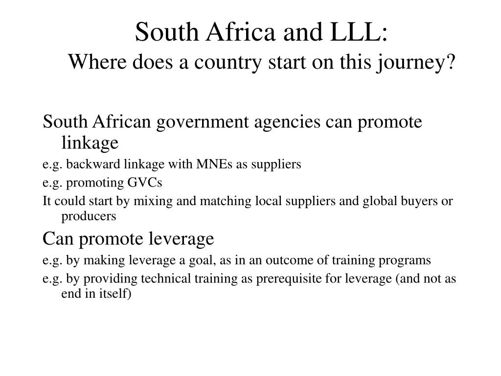 South Africa and LLL: