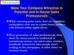 make your company attractive to potential and in house sales professionals8