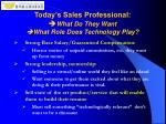 today s sales professional what do they want what role does technology play