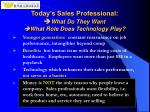 today s sales professional what do they want what role does technology play6